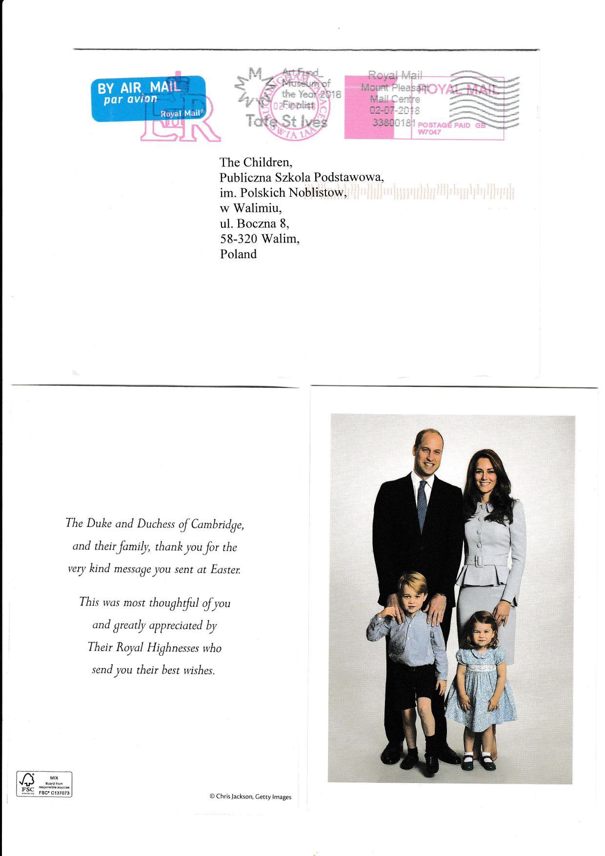 Podziękowania od pary książęcej